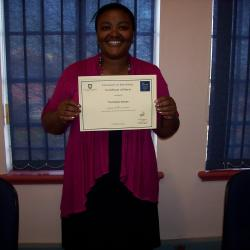 Ms Sokopo was awarded 2nd place in Economics 1 in 2012. She is currently in her second year and is studying Economics 2