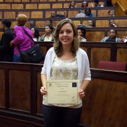 Ms Lauren Watson was awarded 1st place in Economics 2 in 2012, and is currently studying Economics 3 at the University of Fort Hare, East London Campus