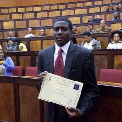 Mr Phillip Ngonisa was awarded 2nd place in Economics 2 in 2012, and is currently studying Economics 3 at the University of Fort Hare, East London Campus.