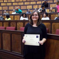 Ms Desiree Dewing was awarded 2nd place in Economics 3 in 2012, and is currently studying towards an Honours in Financial Markets at the University of Fort Hare, East London campus.