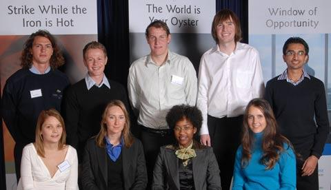 Back row – left to right: Samuel Watson, Ivor Abramowitz, Adam Lowe, Craig Wallington, Shaheen Seedat | Front row – left to right: Samantha Drury, Martha Wolny, Tshepiso Maohloli, Shannon Ward | Absent: Jonathan Friedland