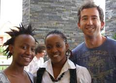 2008 prize winners that major in Economics. From left to right Koketso, Vivian, Owen. (Musondo is majoring in Accounting)